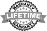 Our work is covered by our limited Lifetime Warranty.